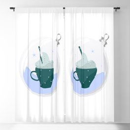 Cappuccino in bauble Blackout Curtain