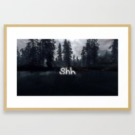 Introverts in a World That Can't Stop Talking Framed Art Print