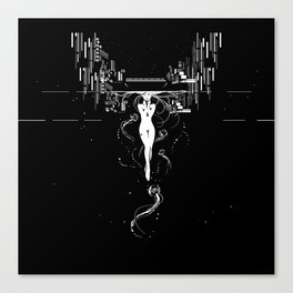 synchroniCity // (nude girl) Canvas Print