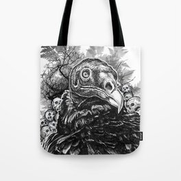 Vulture and Pine Tote Bag