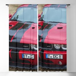 Red Challenger RT Hemi at the 5th US-Carshow, Germany color photograph / photography / poster Blackout Curtain