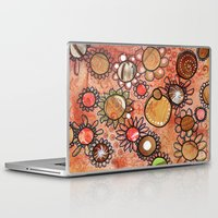brown Laptop & iPad Skins featuring brown by Kras Arts - Fly Me To The Moon