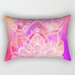 Complete Zen - Pink and Purple Rectangular Pillow