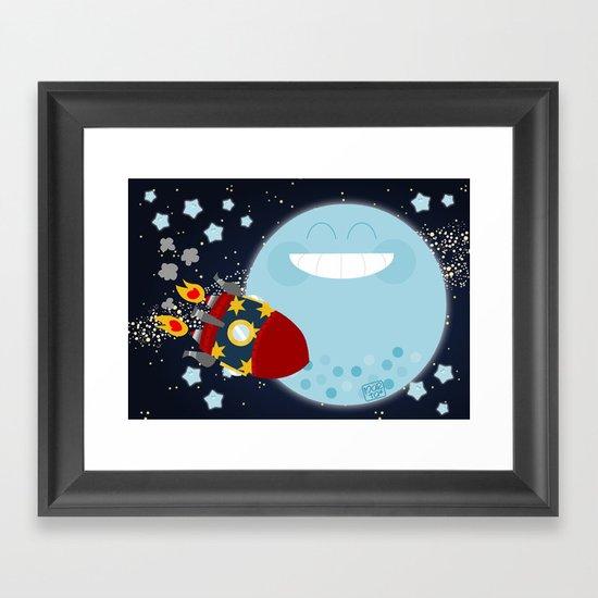 Le Voyage dans la Lune Framed Art Print