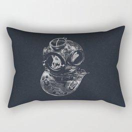 Macaque Diver Rectangular Pillow