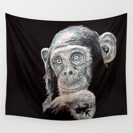 a Jane Goodall quote - black Wall Tapestry