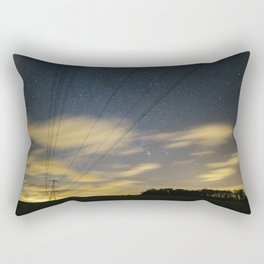 Electricity pylons, stars and clouds. West Acre, Norfolk, UK. Rectangular Pillow