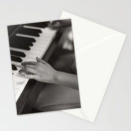 petite fille au piano, june 2018 Stationery Cards