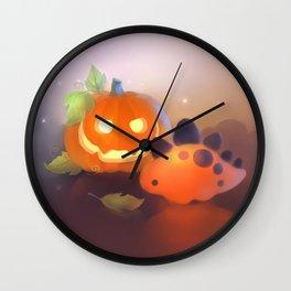 Pumpkin Dino Wall Clock
