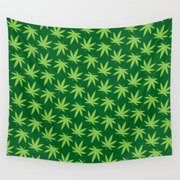 Pot Leaf Pattern Wall Tapestry