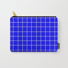 Grid (White/Blue) Carry-All Pouch