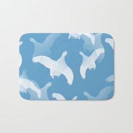 White Birds Against The Blue Sky #decor #society6 #homedecor Bath Mat