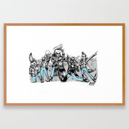 Greasers Framed Art Print