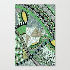 The fish who dreamed of sunflowers and buttons Canvas Print