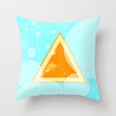 Orange Seltzer Throw Pillow
