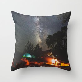 Camping at Deer Creek - Escalante, Utah Throw Pillow