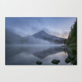 Rising Light and Mist on Trillium Lake Canvas Print