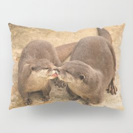 Kissing Otters Pillow Sham