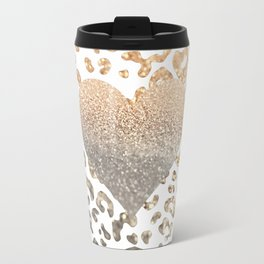 GOLD HEART LEO Travel Mug