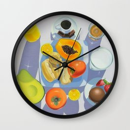 Brazilian Breakfast Wall Clock