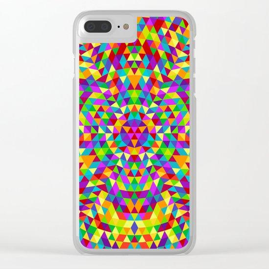 Happy triangle mandala 2 Clear iPhone Case