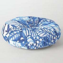 Blue summer floral pattern Floor Pillow