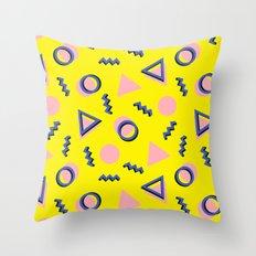 Memphis pattern 62 Throw Pillow