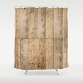 Wood Planks Light Shower Curtain