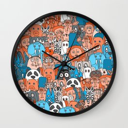 plushies retro Wall Clock