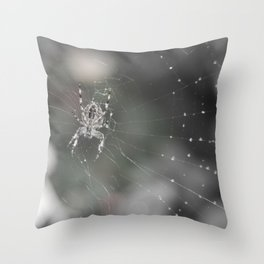 Fluid Nature - Little Garden Spider - Wildlife photography Throw Pillow