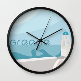 Greece Vector Wall Clock