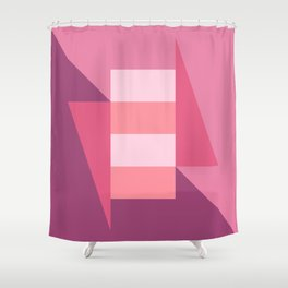 Block And Triangle #6 -Abstract Color Study Shower Curtain