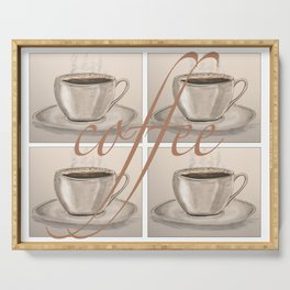 Cups of Coffee Serving Tray