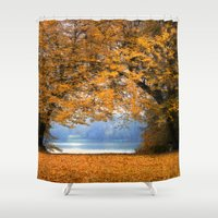 denmark Shower Curtains featuring Autumn in Denmark by by Henrik Wulff Petersen (zoomphoto)