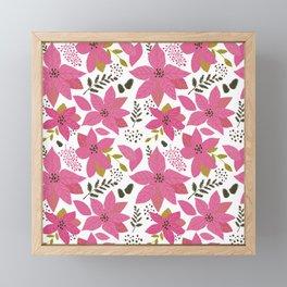 MickMick's  Serene Poinsettia Pink Framed Mini Art Print