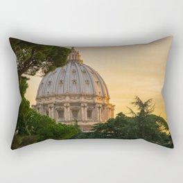 Sunset At The Vatican Rectangular Pillow