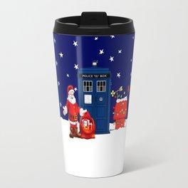 Tardis Santa Christmas Travel Mug