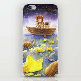 Floating stars iPhone Skin