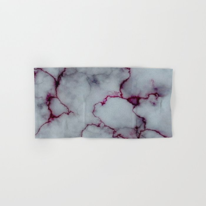 White with Maroon Marbling Hand & Bath Towel