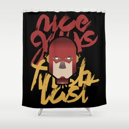 The flash is dead Shower Curtain