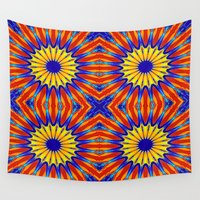 arizona Wall Tapestries featuring Arizona Floral Mandala Pattern by 2sweet4words Designs