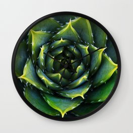 Green and thorns Wall Clock