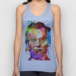 Abraham Lincoln Portrait Unisex Tank Top