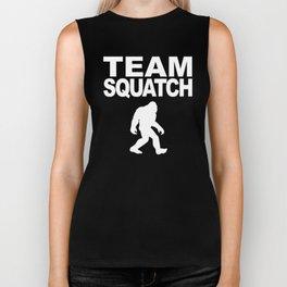 Team Squatch Bigfoot Silhouette Biker Tank