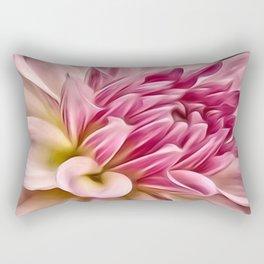 Pink Floral Macro Rectangular Pillow