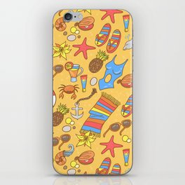 Beach pattern iPhone Skin