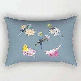 Many Budgies Rectangular Pillow
