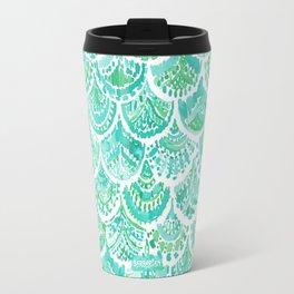 VENUS DE MER Aqua Mermaid Scales Travel Mug