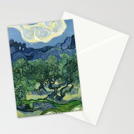 Vincent van Gogh - The Olive Trees Stationery Cards