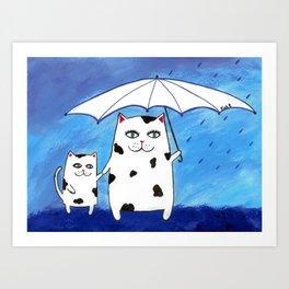 Mama Kitty Art Print